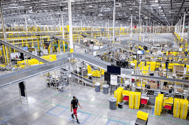 Factory Conveyor Installation | Amazon Fulfillment Center