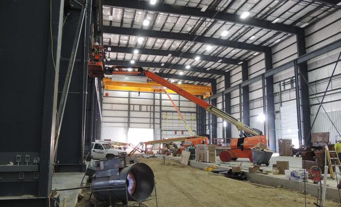 Chart Industries Installation of Crane