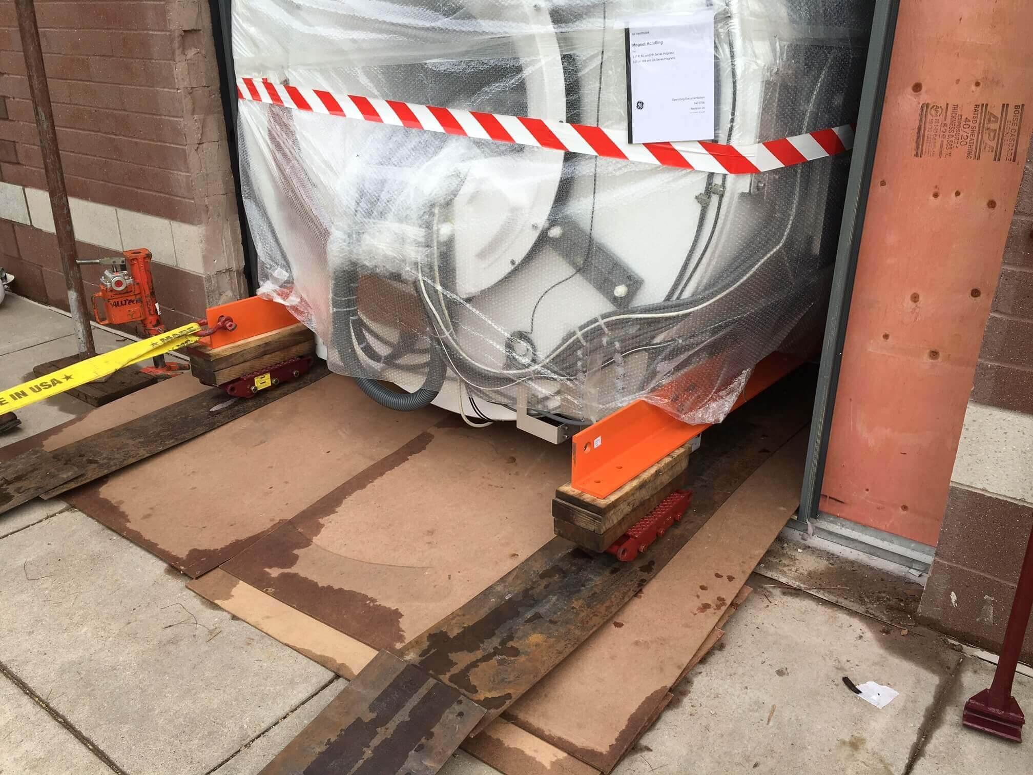 MRI Equipment Moving