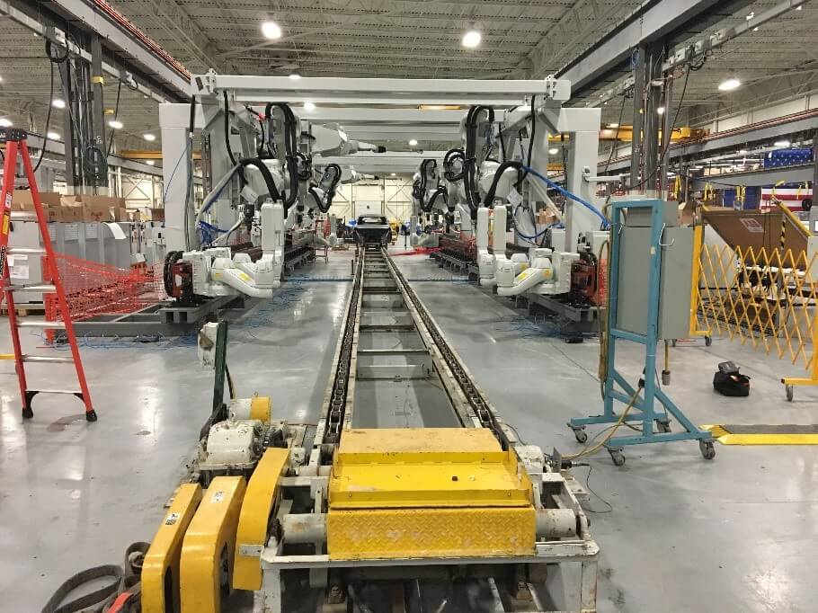 ABB Base Coat & Clear Coat Interior Automation at Ford Chicago Assembly Plant