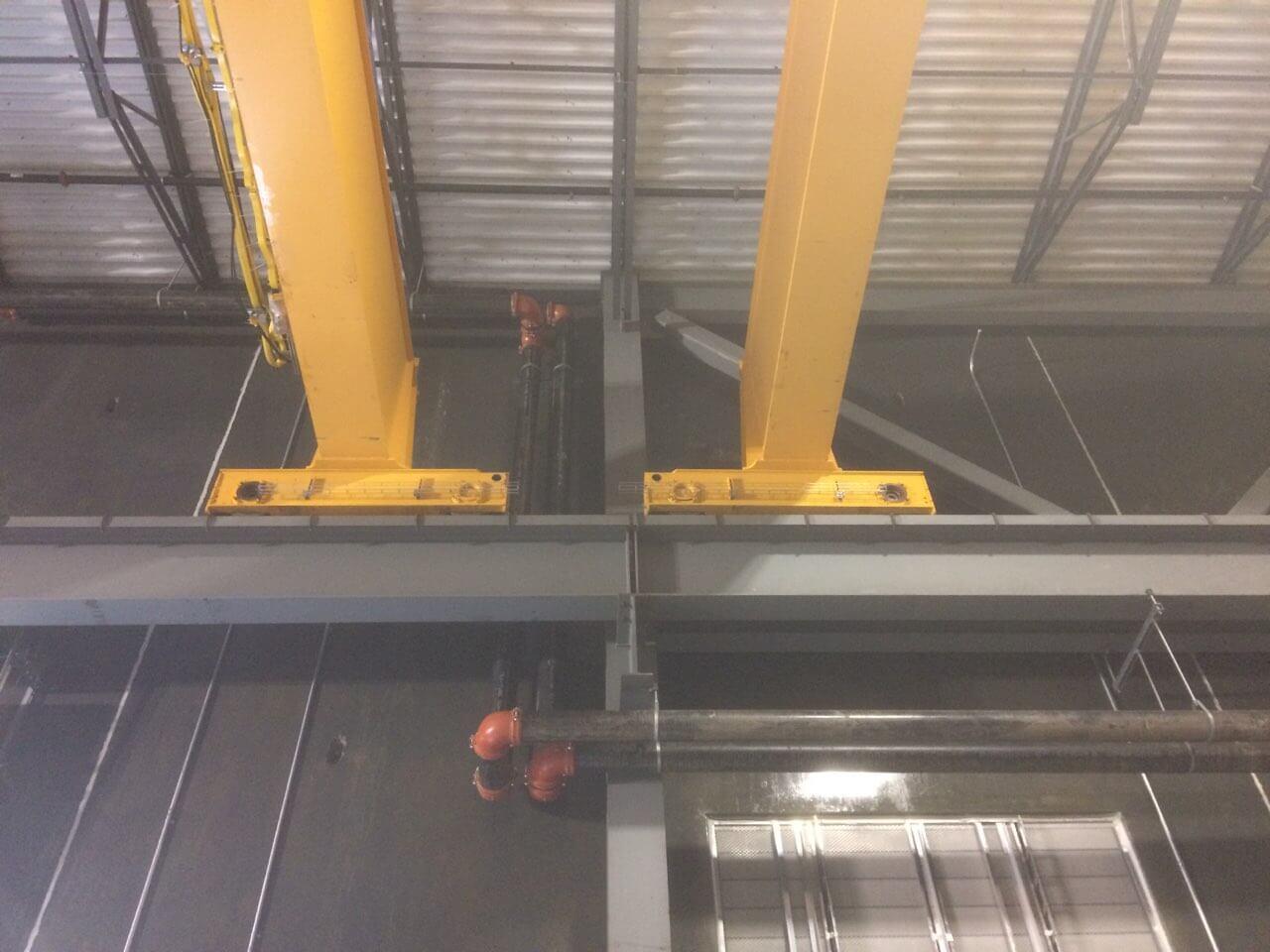 Missouri Bridge Crane Installation Closeup