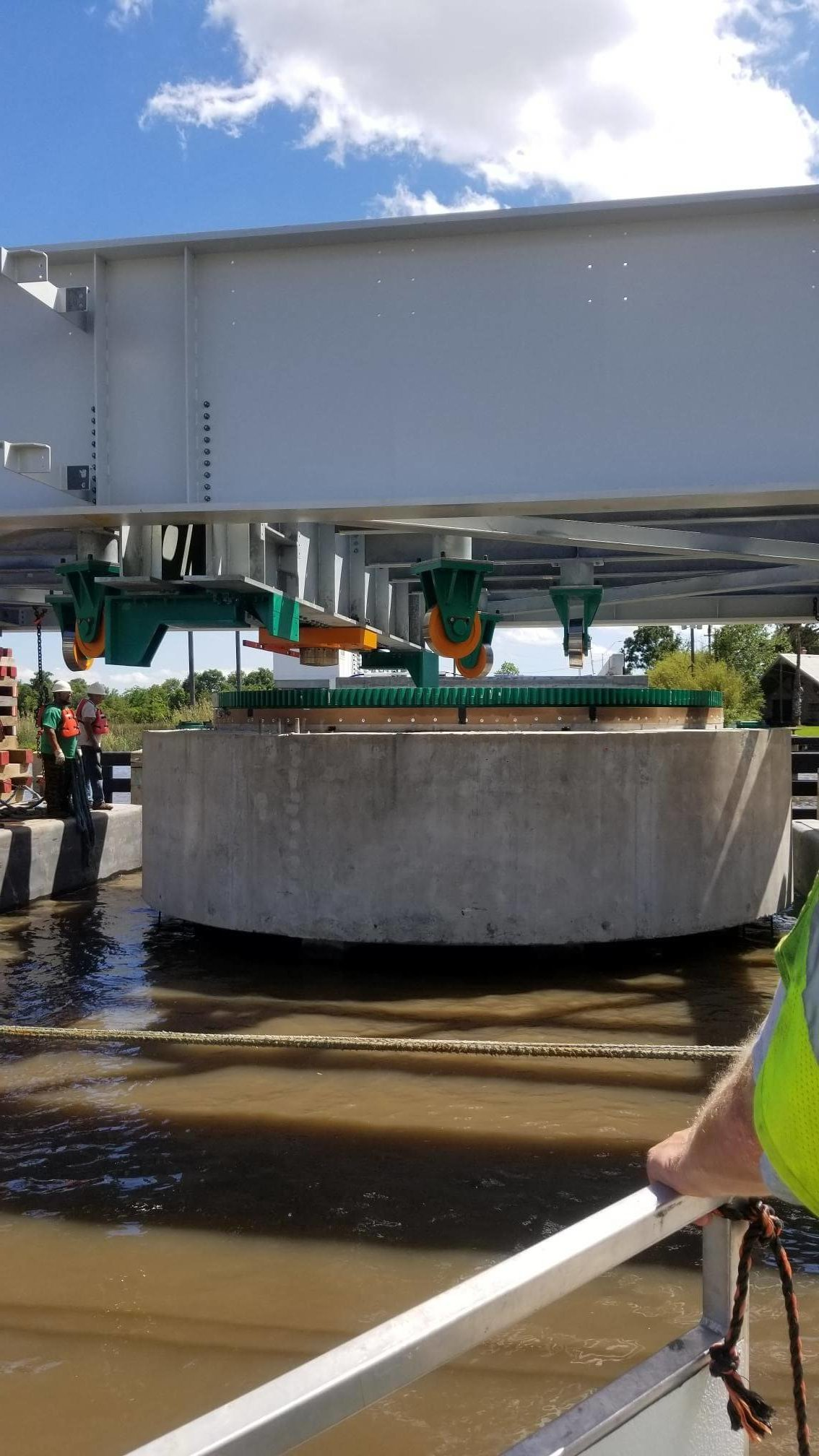 Crew Working on the Texas DOT Swing Bridge